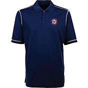 Antigua Men's Washington Nationals Icon Navy Performance Polo