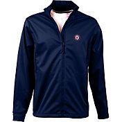 Antigua Men's Washington Nationals Full-Zip Navy Golf Jacket