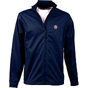 Antigua Men's Washington Nationals Full-Zip Navy Golf Jacket