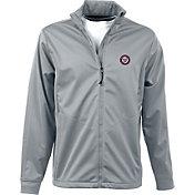 Antigua Men's Washington Nationals Full-Zip Silver Golf Jacket