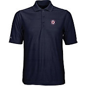 Antigua Men's Washington Nationals Illusion Navy Striped Performance Polo