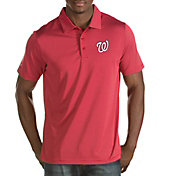 Antigua Men's Washington Nationals Red Quest Performance Polo