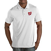 Antigua Men's Washington Nationals White Quest Performance Polo