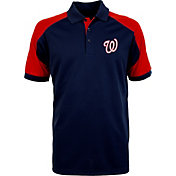 Antigua Men's Washington Nationals Century Navy/Red Polo