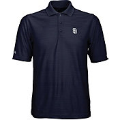Antigua Men's San Diego Padres Illusion Navy Striped Performance Polo