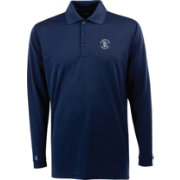 Antigua Men's San Diego Padres Exceed Navy       Long Sleeve Performance Polo