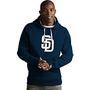 Antigua Men's San Diego Padres Navy Victory Pullover