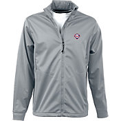 Antigua Men's Philadelphia Phillies Full-Zip Silver Golf Jacket