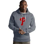 Antigua Men's Philadelphia Phillies Grey Victory Pullover