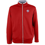 Antigua Men's Philadelphia Phillies Leader Red Full-Zip Jacket