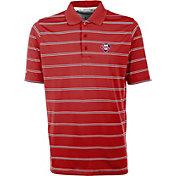 Antigua Men's Philadelphia Phillies Deluxe Red Striped Performance Polo