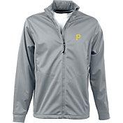 Antigua Men's Pittsburgh Pirates Full-Zip Silver Golf Jacket