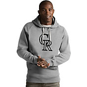 Antigua Men's Colorado Rockies Grey Victory Pullover