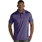 Antigua Men's Colorado Rockies Purple Quest Performance Polo