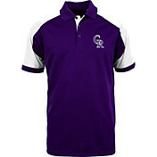 Antigua Men's Colorado Rockies Century Purple/White Polo
