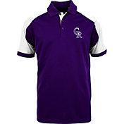 Antigua Men's Colorado Rockies Century Purple/White Polo