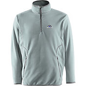 Antigua Men's Colorado Rockies Quarter-Zip Silver Ice Pullover