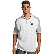 Antigua Men's Colorado Rockies Century White/Silver Polo