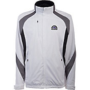 Antigua Men's Colorado Rockies Tempest White Full-Zip Jacket