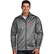 Antigua Men's Cincinnati Reds Grey Golf Jacket