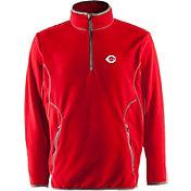Antigua Men's Cincinnati Reds Quarter-Zip Red Ice Pullover