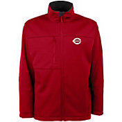 Antigua Men's Cincinnati Reds Red Traverse Fleece Jacket
