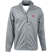 Antigua Men's Cincinnati Reds Full-Zip Silver Golf Jacket