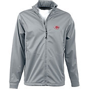Antigua Men's Cincinnati Reds Full-Zip Silver Golf Jacket