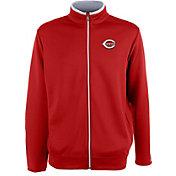 Antigua Men's Cincinnati Reds Leader Red Full-Zip Jacket
