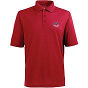 Antigua Men's Cincinnati Reds Xtra-Lite Patriotic Logo Red Pique Performance Polo