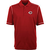 Antigua Men's Cincinnati Reds Red Icon Polo