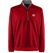 Antigua Men's Cincinnati Reds Leader Quarter-Zip Red Pullover