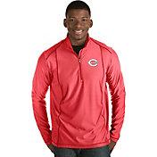 Antigua Men's Cincinnati Reds Red Tempo Quarter-Zip Pullover