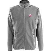 Antigua Men's Cincinnati Reds Full-Zip Silver Ice Jacket