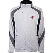 Antigua Men's Cincinnati Reds Tempest White Full-Zip Jacket