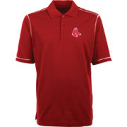 Antigua Men's Boston Red Sox Icon Red Performance Polo