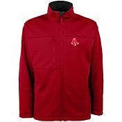 Antigua Men's Boston Red Sox Red Traverse Fleece Jacket