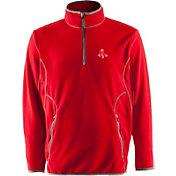 Antigua Men's Boston Red Sox Quarter-Zip Red Ice Pullover