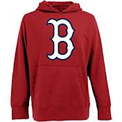 Antigua Men's Boston Red Sox Red Signature Applique Hoodie