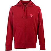 Antigua Men's Boston Red Sox Red Full-Zip Fleece Hoodie