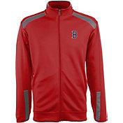 Antigua Men's Boston Red Sox Flight Red Full-Zip Jacket