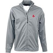 Antigua Men's Boston Red Sox Full-Zip Silver Golf Jacket