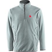 Antigua Men's Boston Red Sox Quarter-Zip Silver Ice Pullover