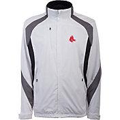 Antigua Men's Boston Red Sox Tempest White Full-Zip Jacket