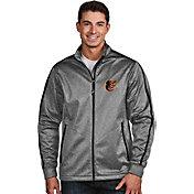 Antigua Men's Baltimore Orioles Grey Golf Jacket