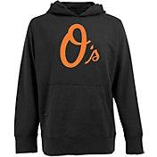 Antigua Men's Baltimore Orioles Black Signature Applique Hoodie