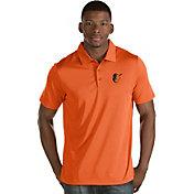 Antigua Men's Baltimore Orioles Orange Quest Performance Polo