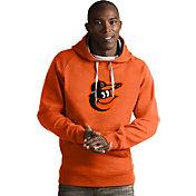 Antigua Men's Baltimore Orioles Orange Victory Pullover