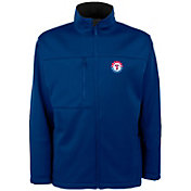 Antigua Men's Texas Rangers Royal Traverse Fleece Jacket
