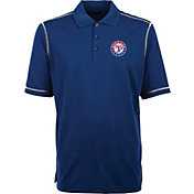 Antigua Men's Texas Rangers Icon Royal Performance Polo